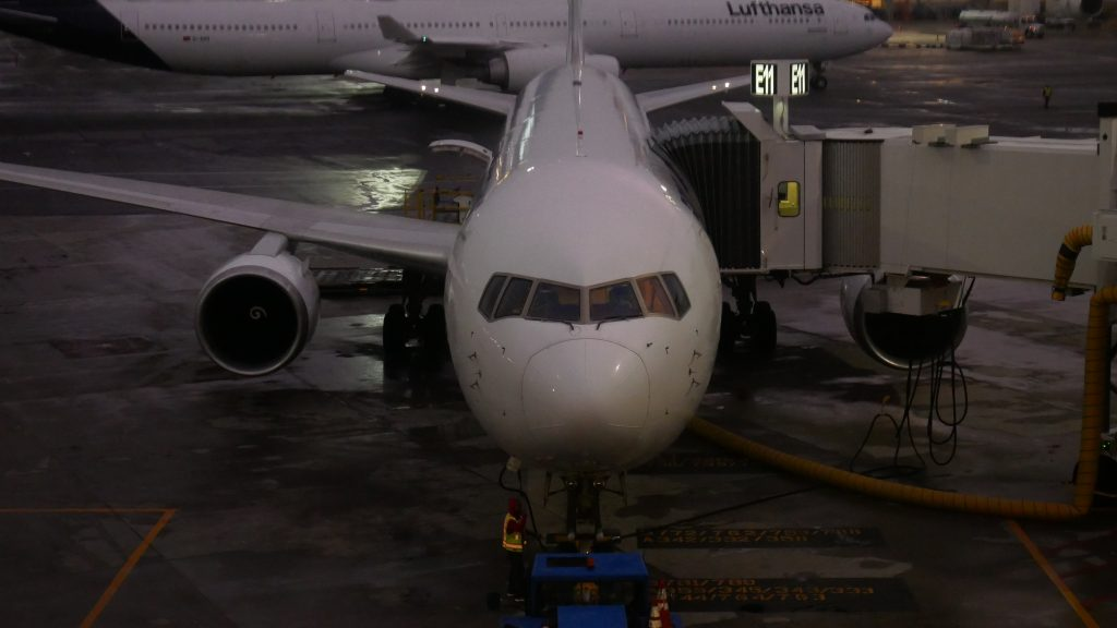 Airplane Parked at Boston Logan Airport